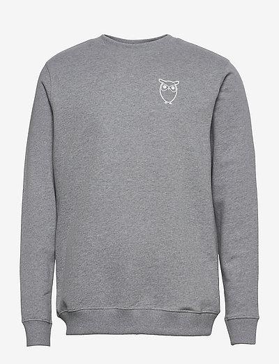 ELM owl sweat - GOTS/Vegan - truien - grey melange