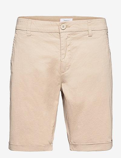 CHUCK regular chino poplin shorts - - chinos shorts - light feather gray