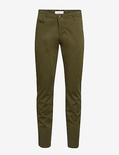 CHUCK regular stretched chino pant - pantalons chino - burned olive