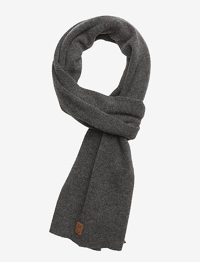 JUNIPER organic wool scarf - szaliki zimowe - dark grey melange