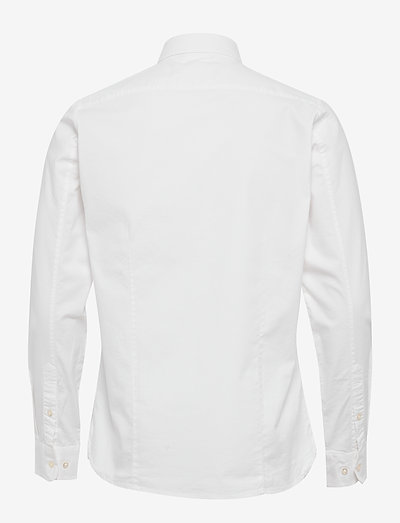 Knowledge Cotton Apparel Elder Regular Fit Small Owl Oxford- Paidat Bright White
