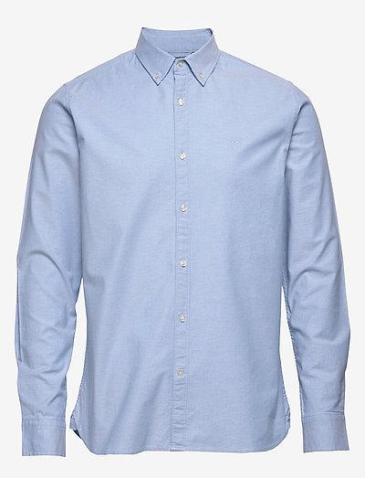 ELDER regular fit small owl oxford - rutiga skjortor - lapis blue