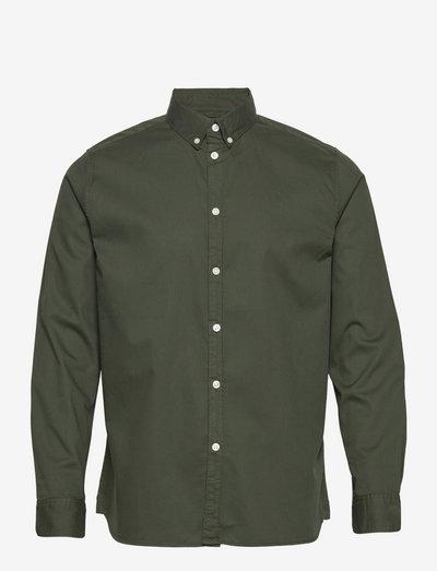 LARCH casual fit cord shirt - GOTS/ - rutiga skjortor - forrest night