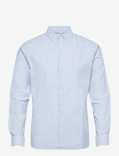 ELDER regular fit owl striped oxfor - rutiga skjortor - lapis blue