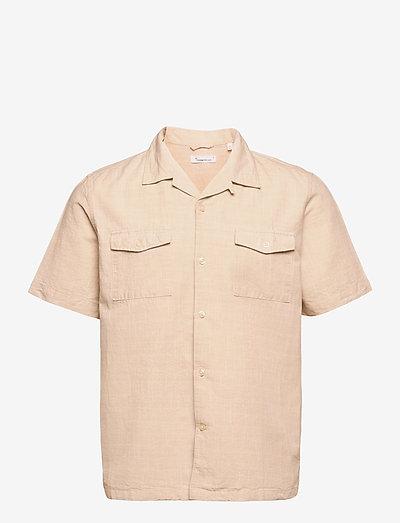 WAVE Cuban collar SS shirt w/chest - chemises à carreaux - light feather gray