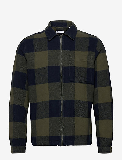 PINE checked heavy flannel overshir - vêtements - forrest night