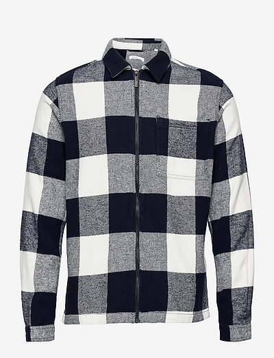 PINE checked heavy flannel overshir - vêtements - total eclipse