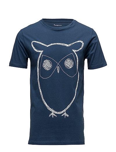 Single Jersey With Owl Print - GOTS - INSIGNA BLUE