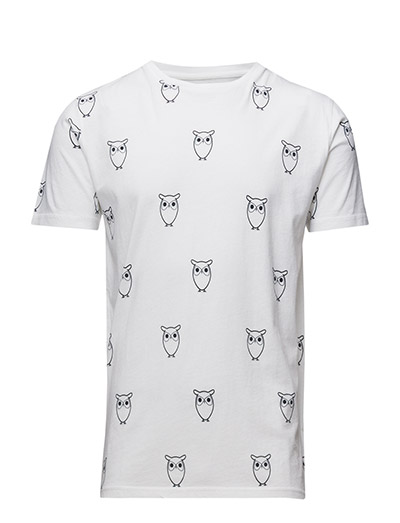 All Over Big Owl printed tee - GOTS - BRIGHT WHITE