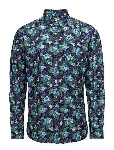 Concept print shirt - poplin - GOTS - TOTAL ECLIPSE