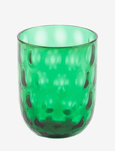 DANISH SUMMER TUMBLER BIG DROPS - juomalasit - green