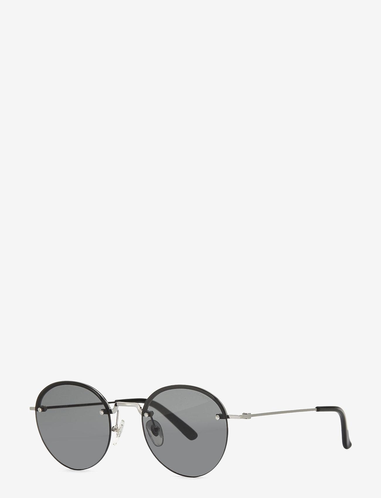 Komono - Lenny - ronde zonnebril - silver smoke - 1