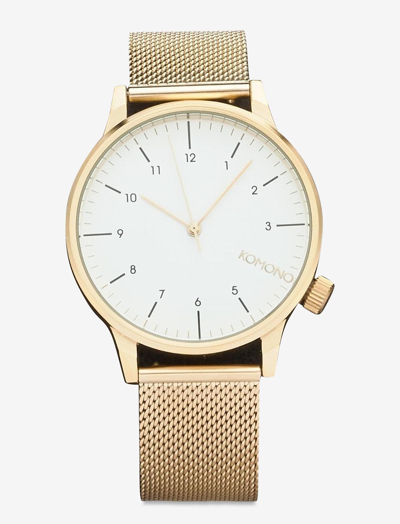 Komono - Winston Royale - watches - gold white - 0