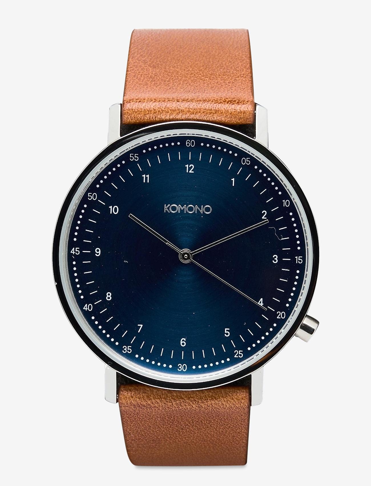 Komono - Lewis - watches - blue cognac - 0