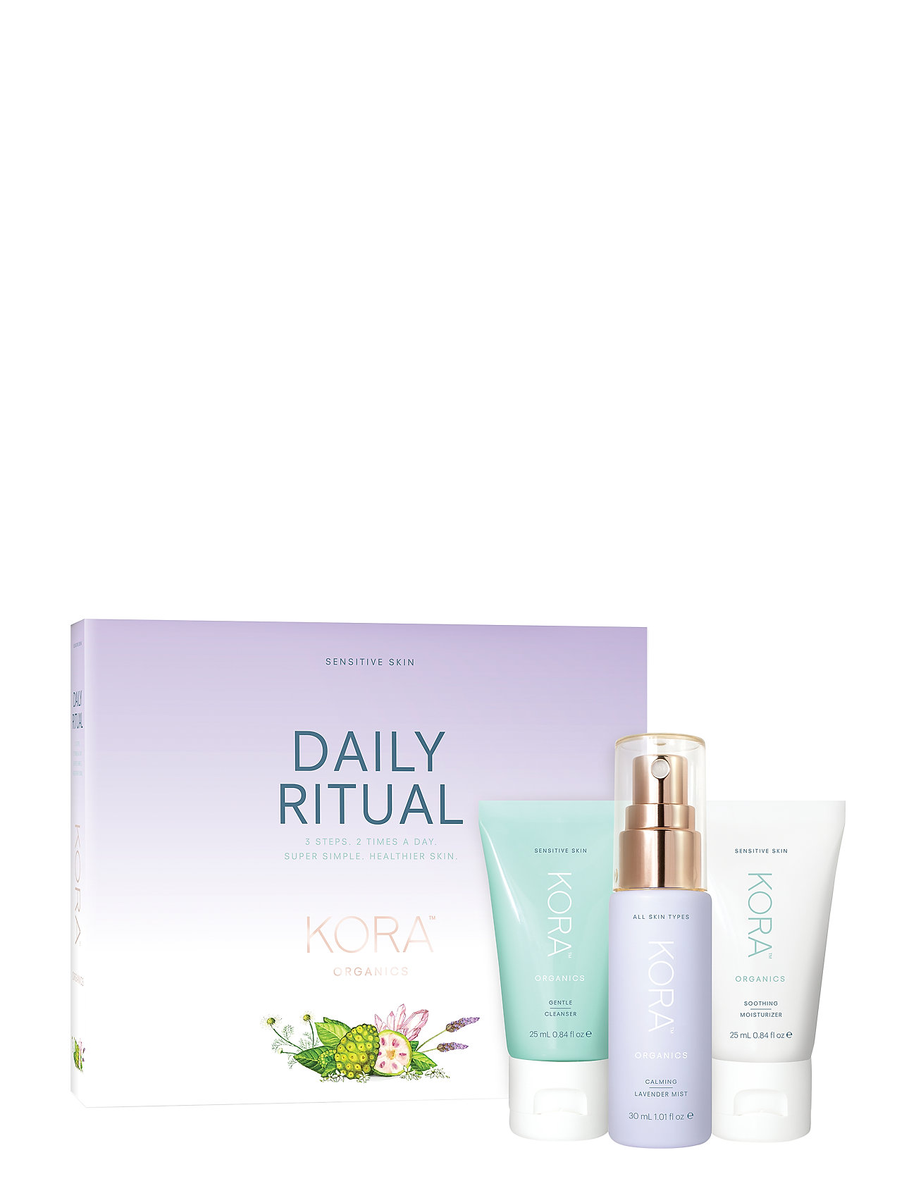 Kora Organics Daily Ritual Kit - Sensitive - CLEAR/TRANSPARANT