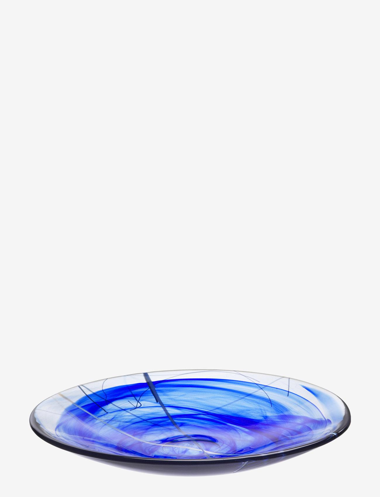 Kosta Boda - CONTRAST BLUE DISH D 380MM - tarjoiluastiat ja -lautaset - blue - 0