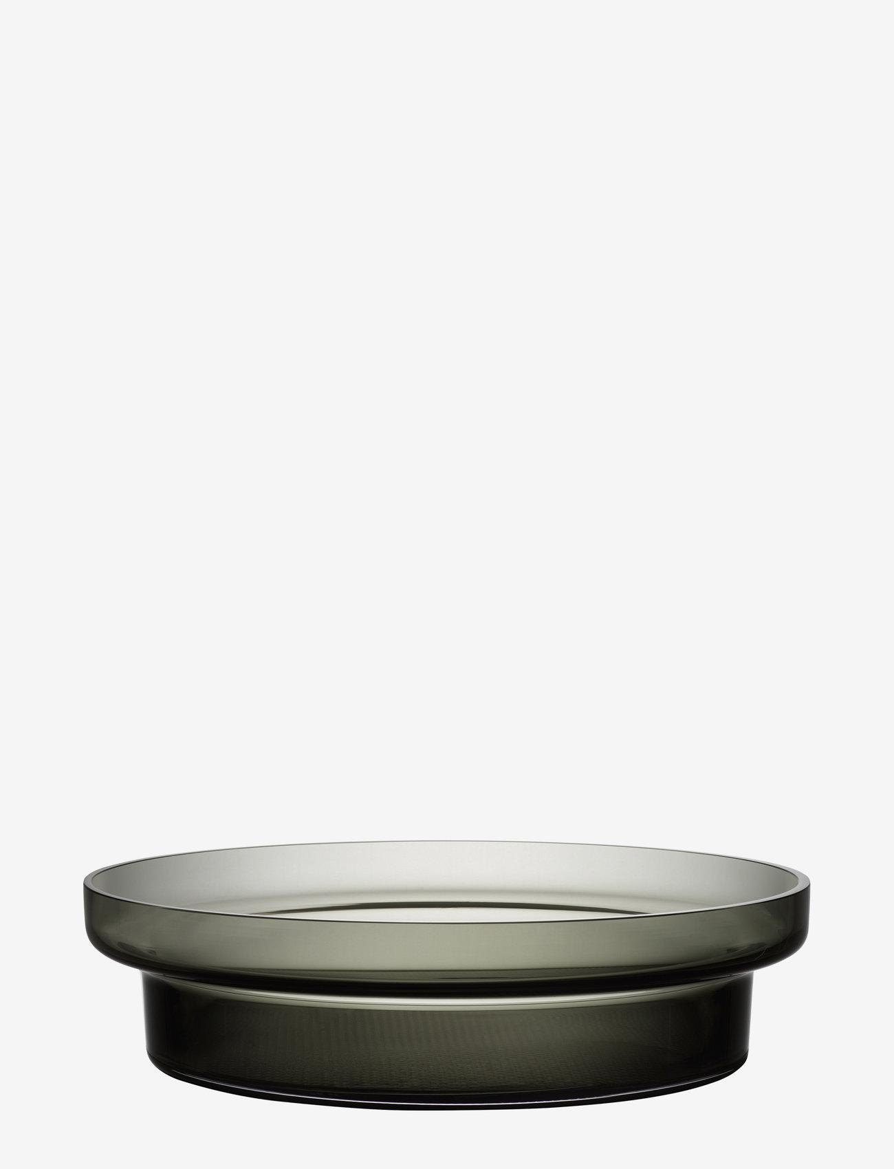 Kosta Boda - LIMELIGHT DISH GREY D 330MM - serveringsfat - grey - 0