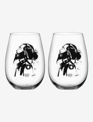 Kosta Boda - ALL ABOUT YOU/LOVE HIM SVART 2-PACK 57CL - vinglass - black - 0