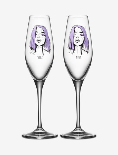 ALL ABOUT YOU FOREVER MINE CHAMPAGNE 2-PACK 23CL - samppanjalasit - purple