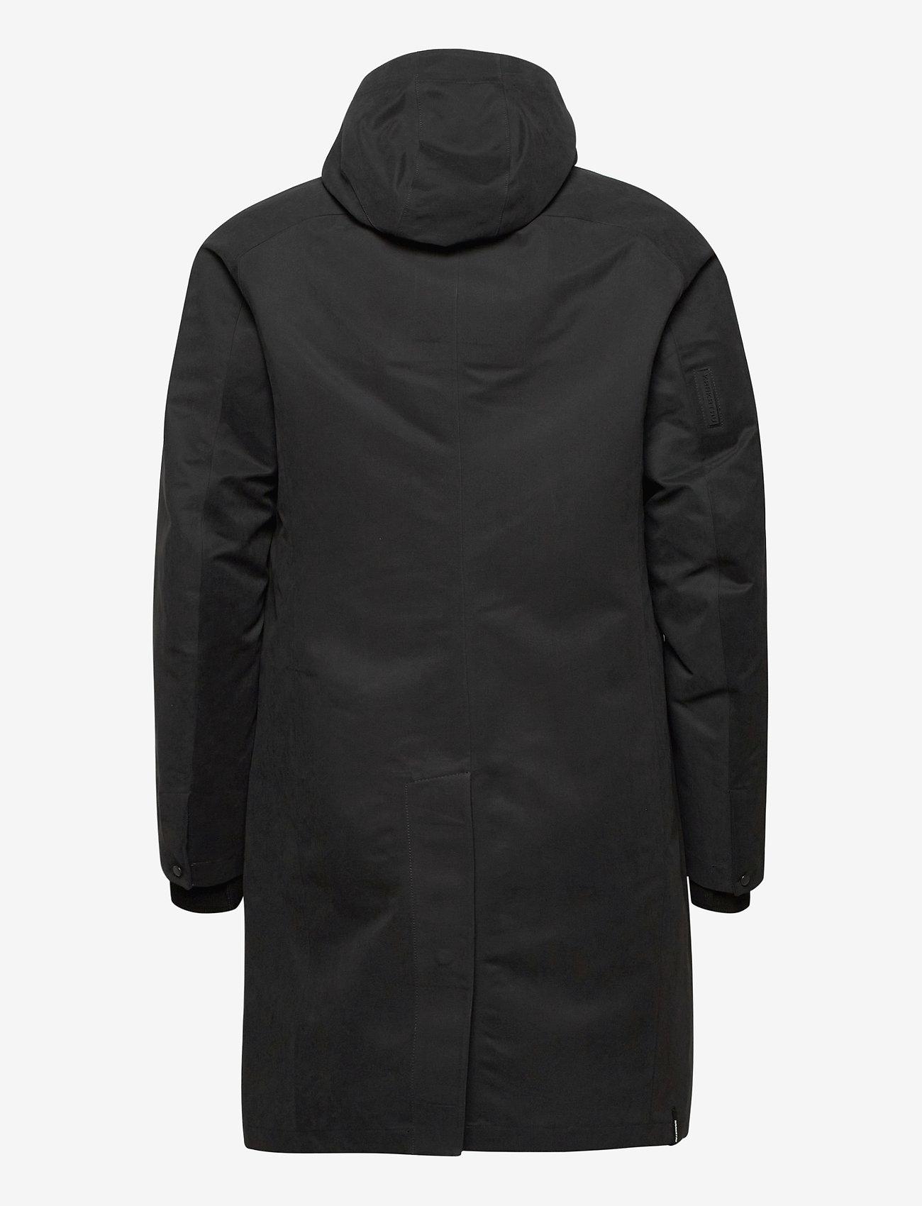 Krakatau durable microfibre trench coat - Jakker og frakker BLACK - Menn Klær