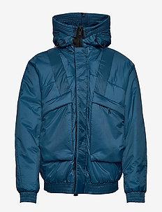 short snrokel jacket - træningsjakker - denim blue
