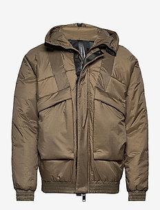 short snrokel jacket - træningsjakker - khaki