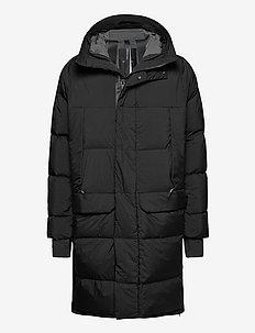 long down coat - forede jakker - black