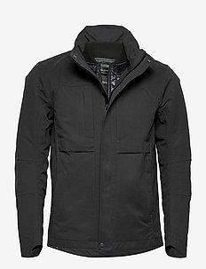 durable microfibre field jacket - forede jakker - black
