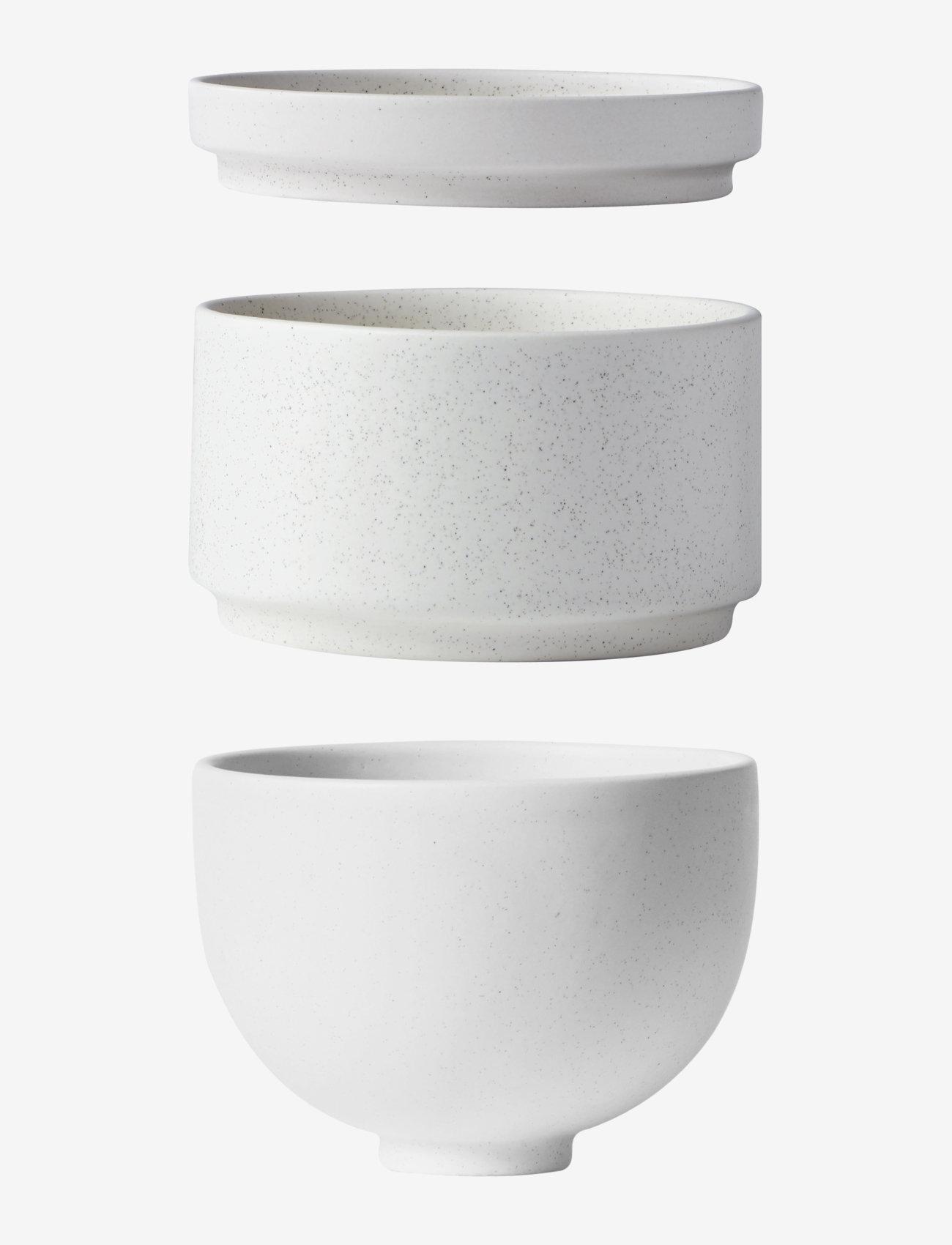 Kristina Dam Studio - Setomono Bowl Set - Small - Off-white - tarjoilukulhot - ceramics - 0