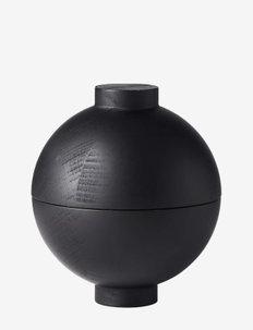 Wooden Sphere - Black - trefigurer - black painted wood