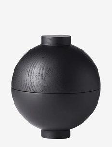 XL Wooden Sphere - Black - trefigurer - black painted wood