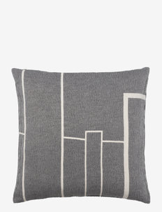 Architecture Cushion - Cotton - koristetyynyt - black melange/off white
