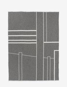 Architecture Throw - Cotton - shop etter pris - off white/black melange