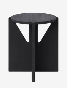 Stool - bord - black painted wood