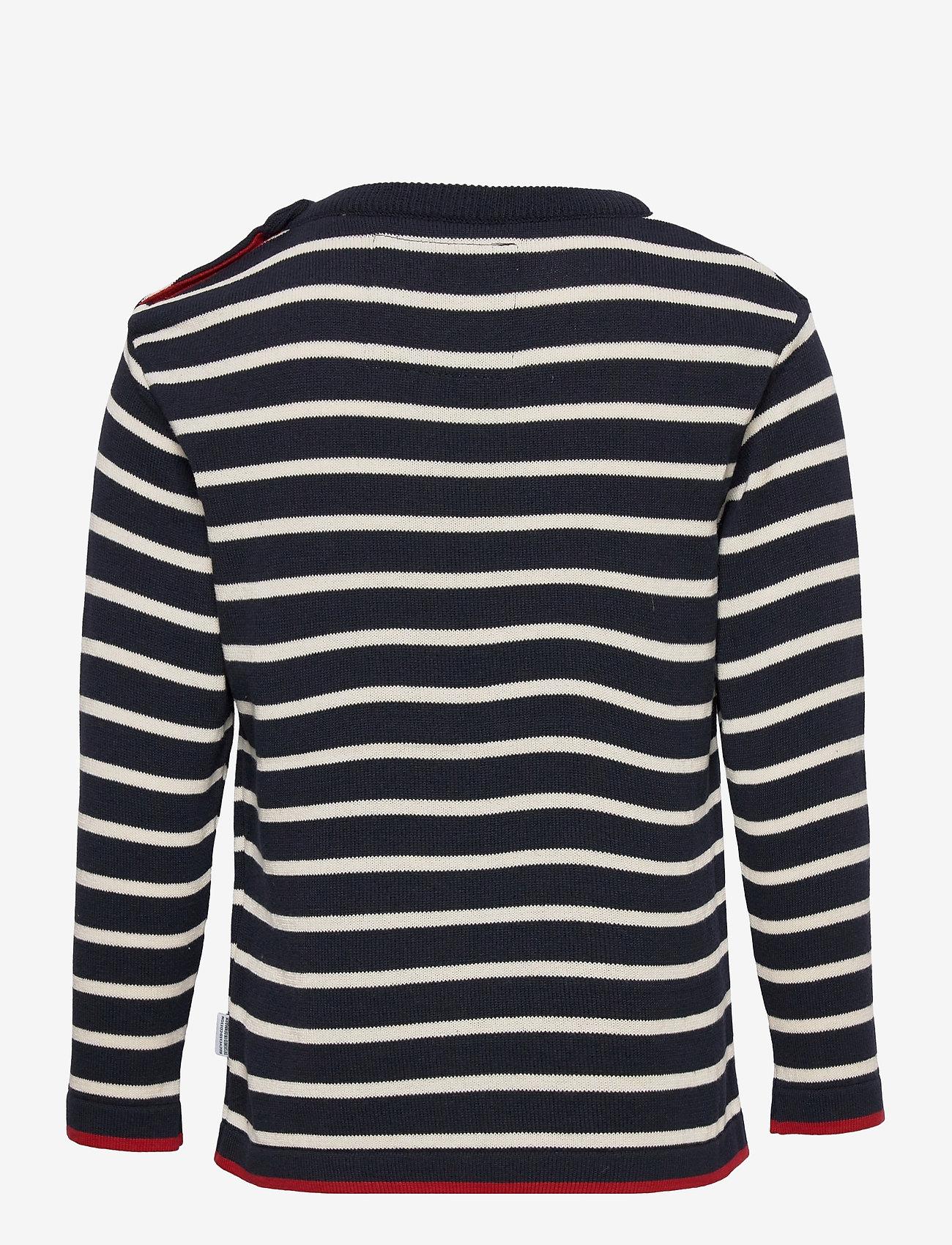 Kronstadt - Oscar Stripe - jumpers - navy/off white - 1