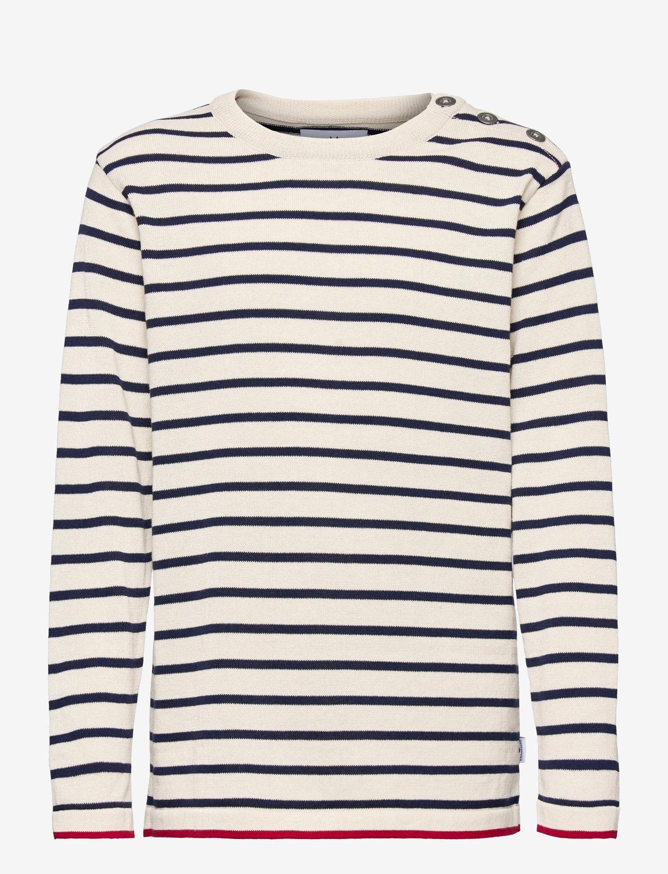 Kronstadt - Oscar Stripe - jumpers - off white/navy - 0