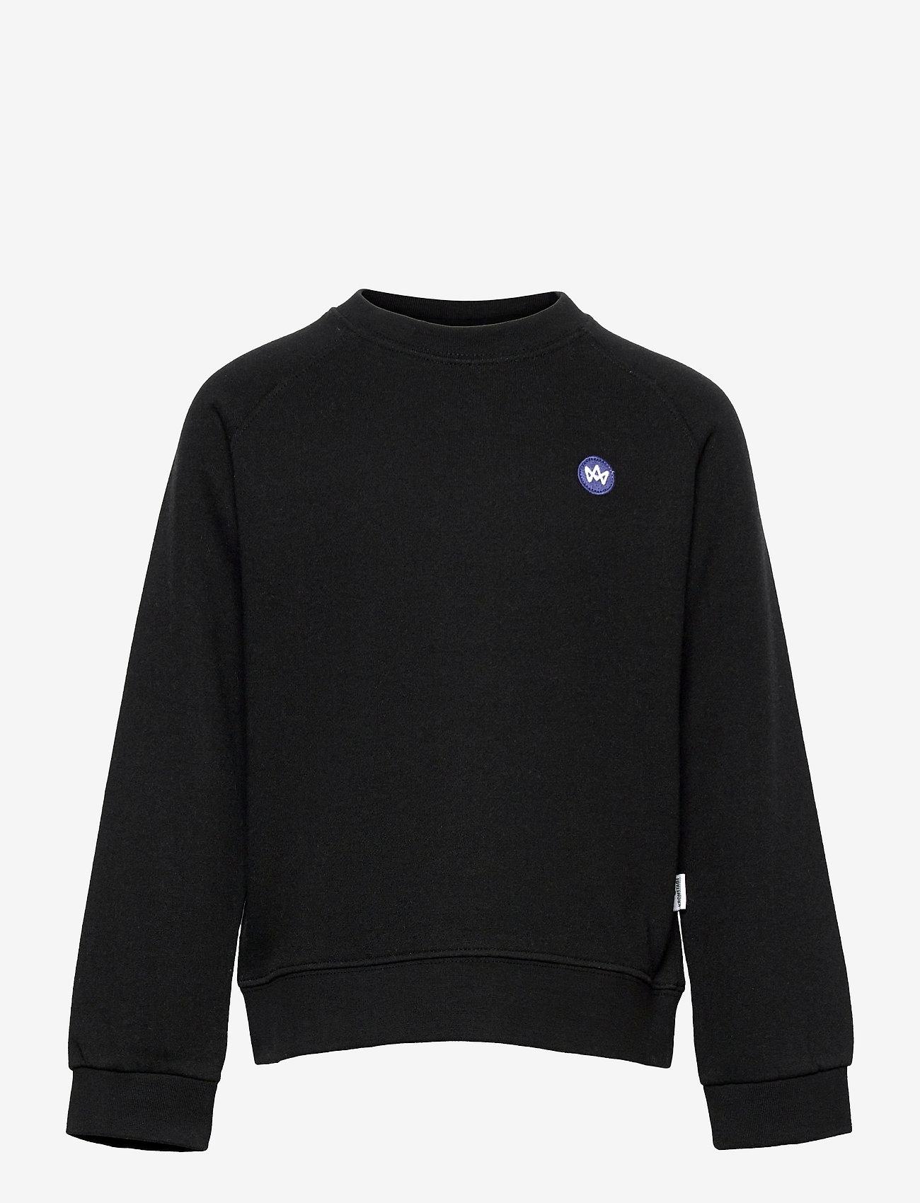 Kronstadt - Lars Crew Recycled - sweatshirts - black - 0