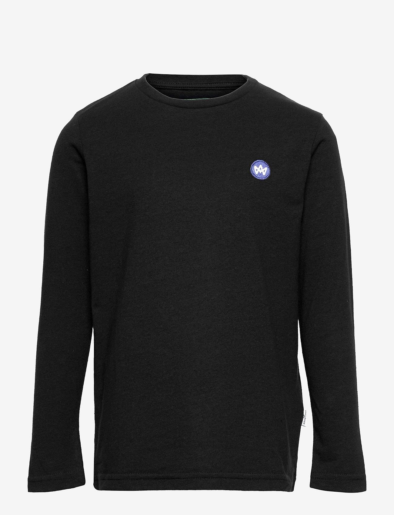Kronstadt - Timmi LS Recycled - sweatshirts - black - 0