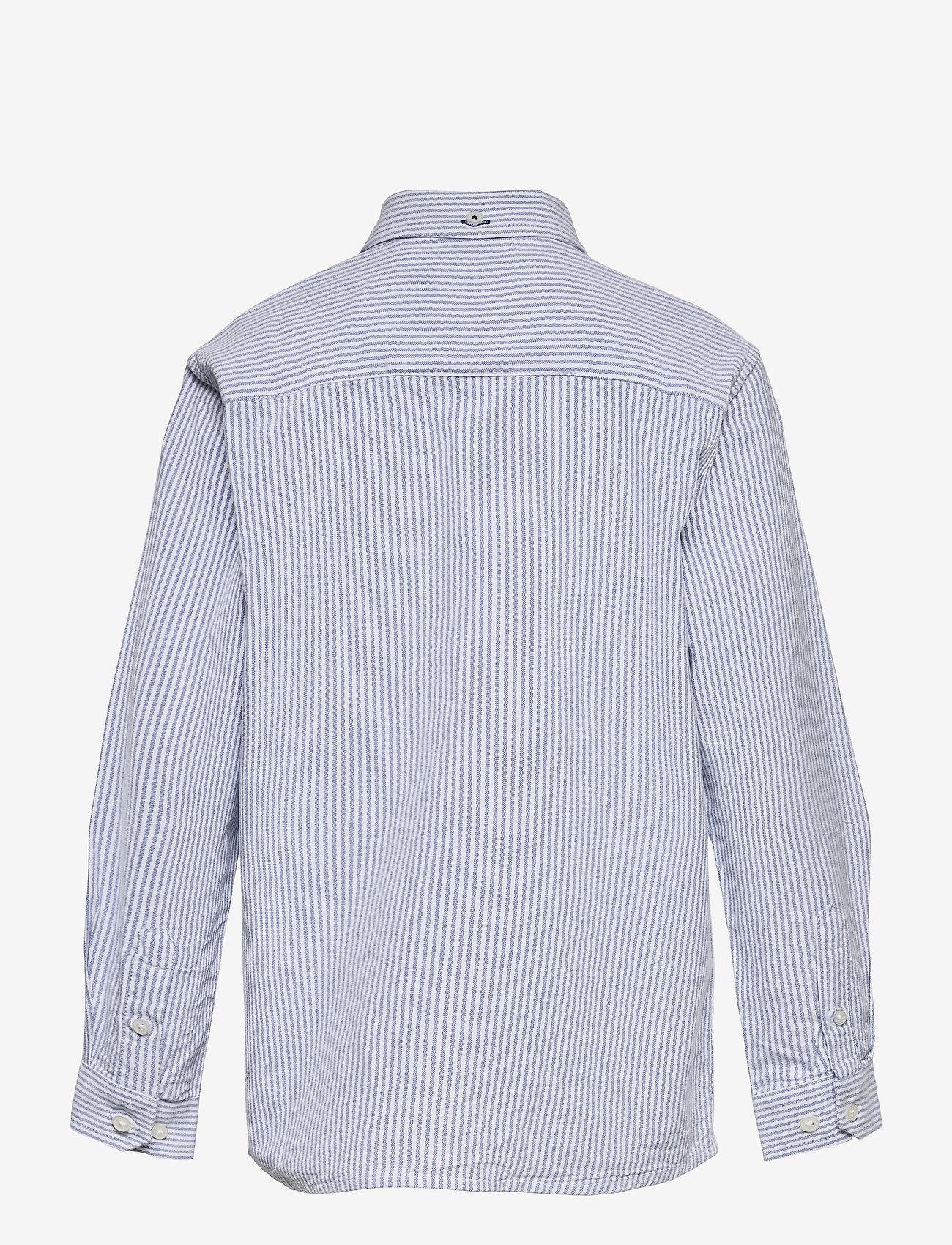 Kronstadt - Johan Oxford Stripe - shirts - white / light blue - 1