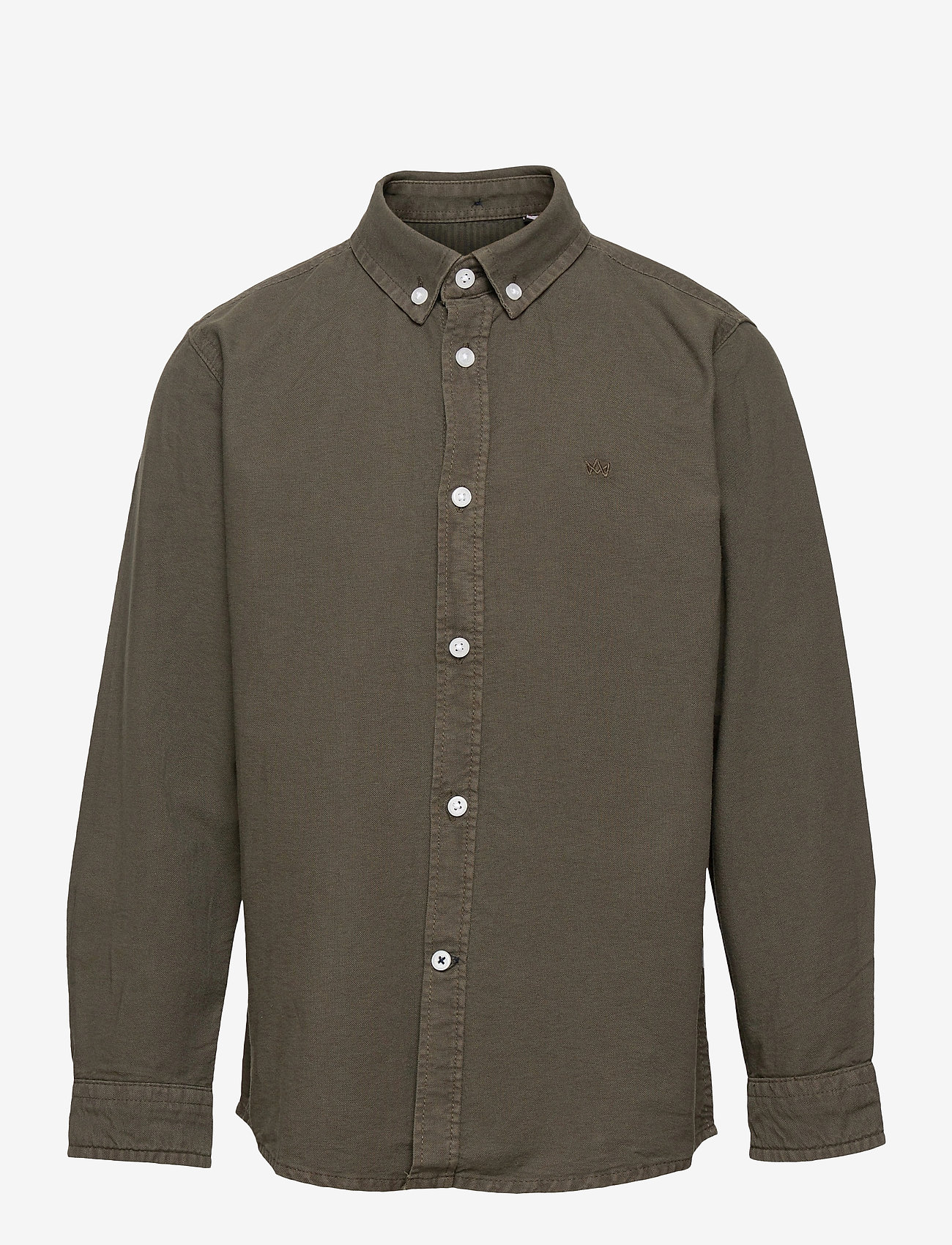 Kronstadt - Johan Oxford Washed - shirts - army - 0