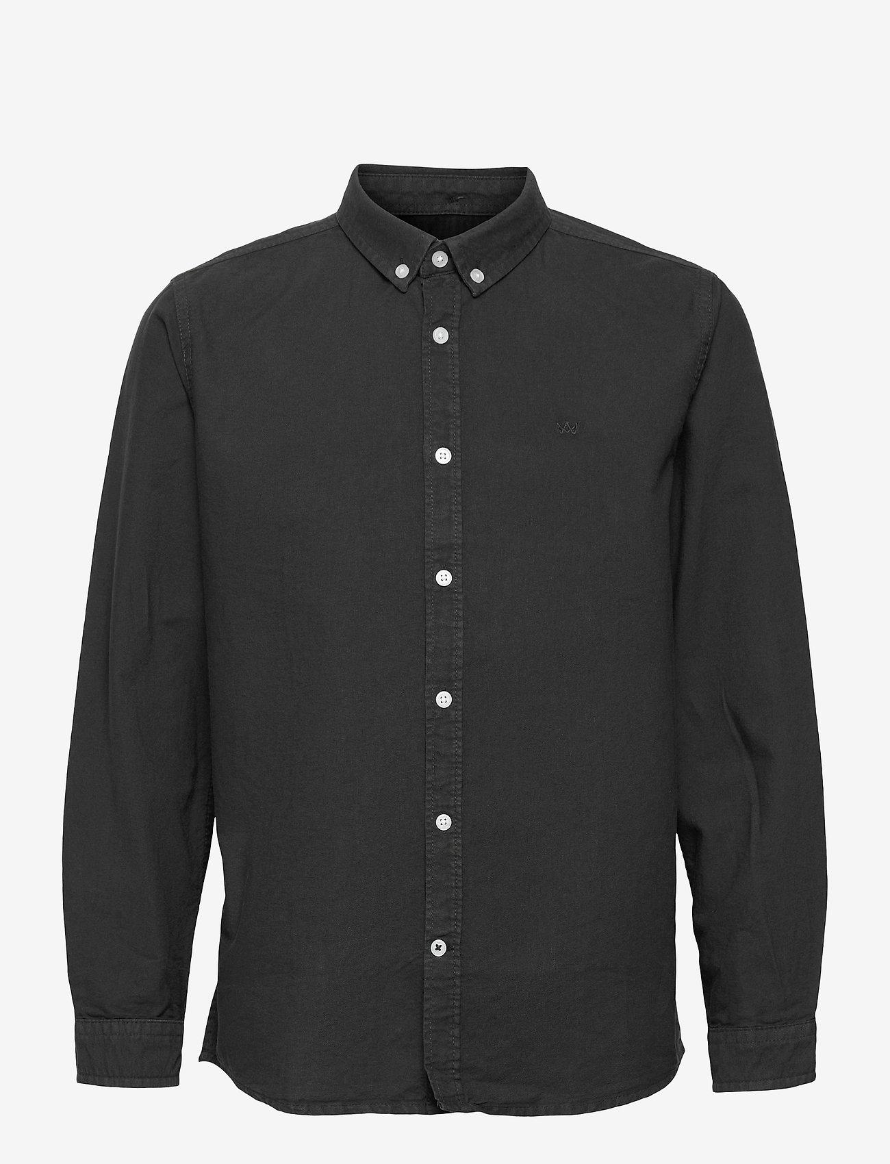 Kronstadt - Johan Oxford Washed - shirts - black - 0