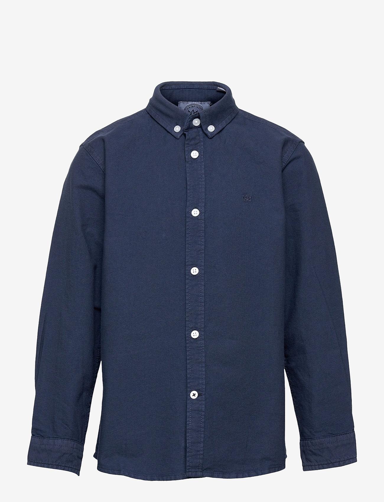 Kronstadt - Johan Oxford Washed - shirts - blue - 0