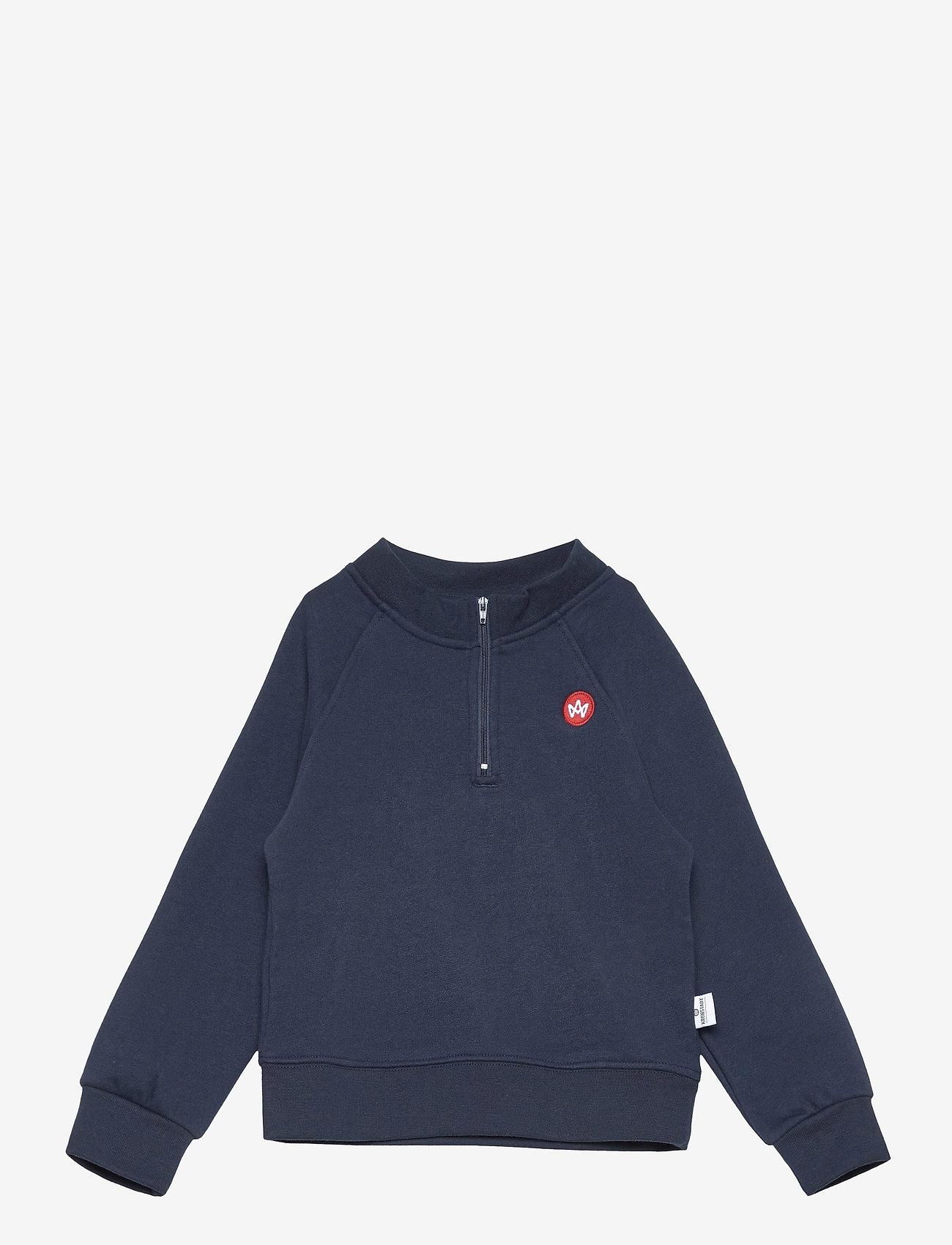Kronstadt - Lars Half Zip Recycled - sweatshirts - navy - 0