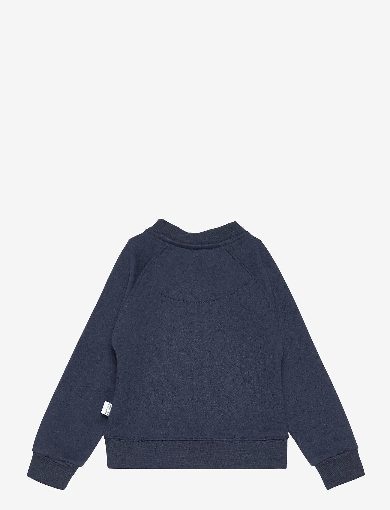 Kronstadt - Lars Half Zip Recycled - sweatshirts - navy - 1