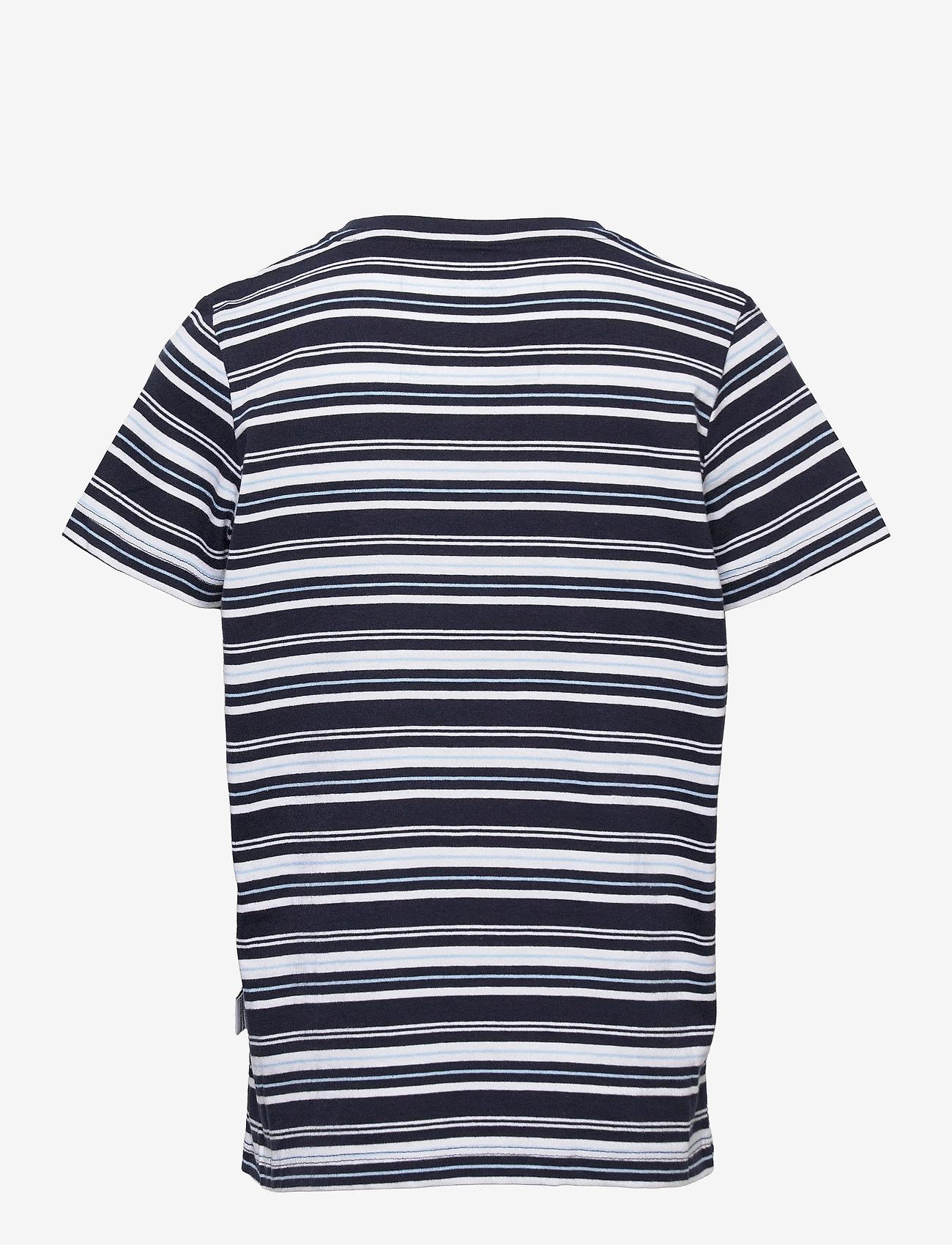 Kronstadt - Halfdan Recycled - short-sleeved - navy/lt.blue/white - 1
