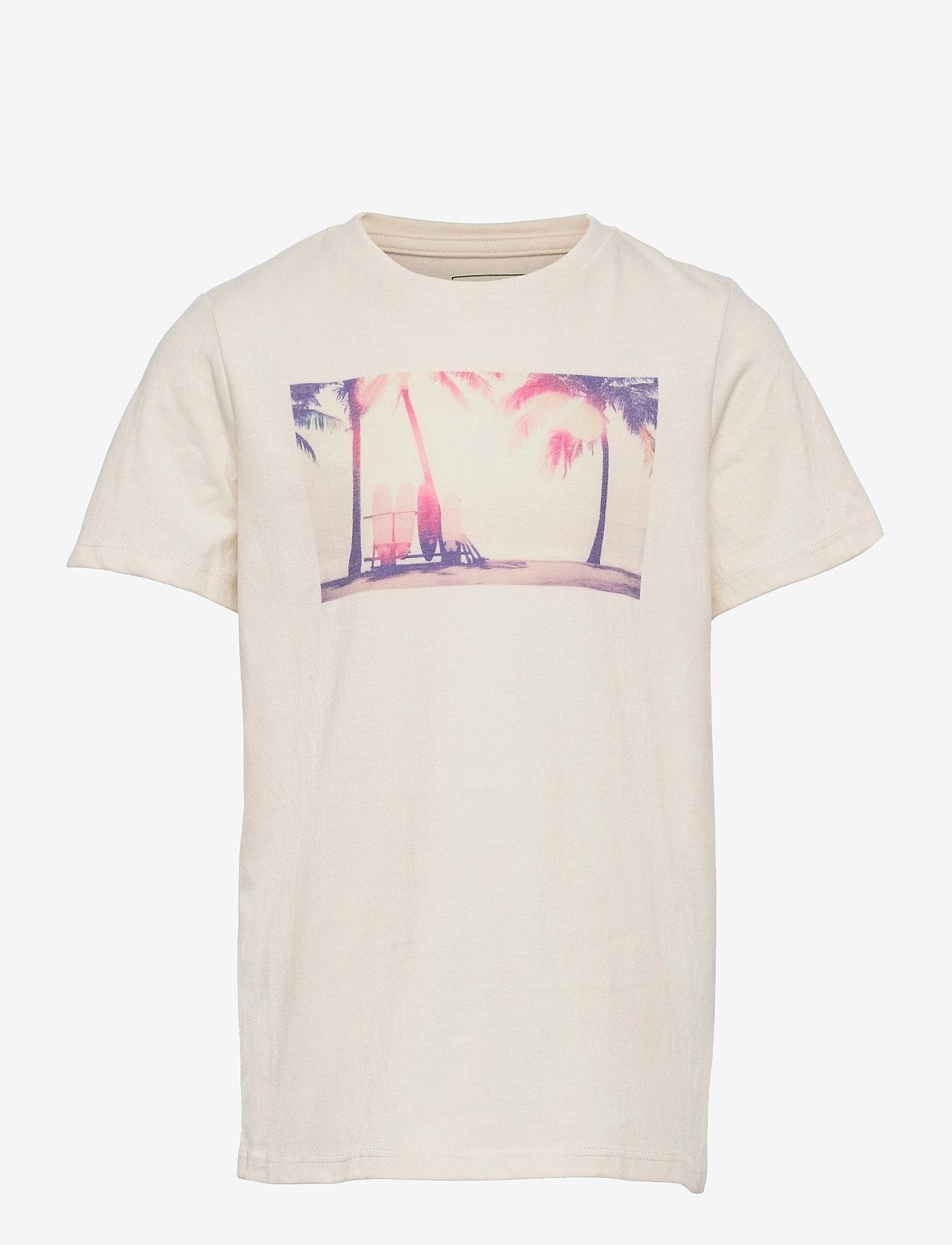 Kronstadt - Print Tee - short-sleeved - palms - 0