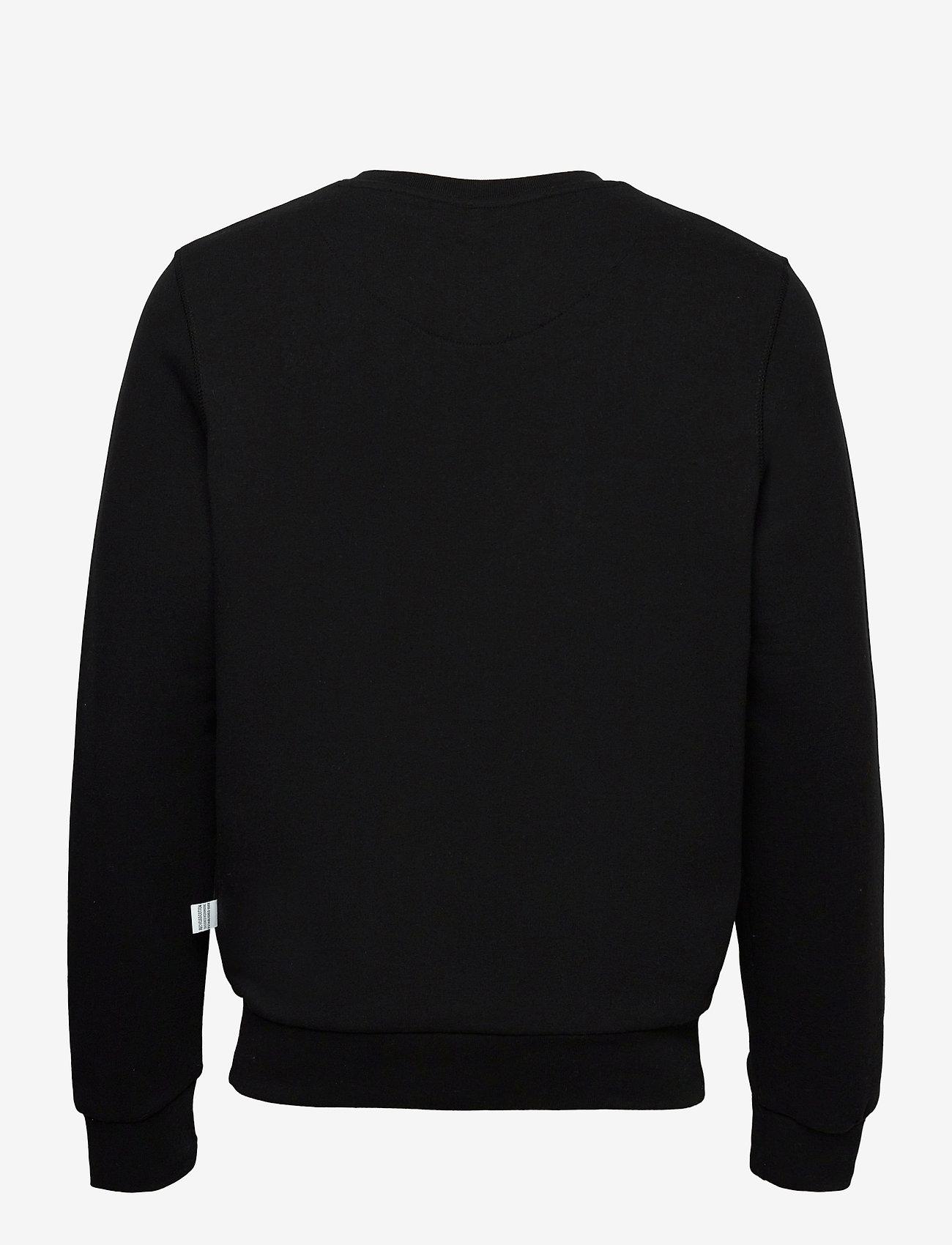 Kronstadt - Lars Recycled cotton sweat - sweats - black - 1