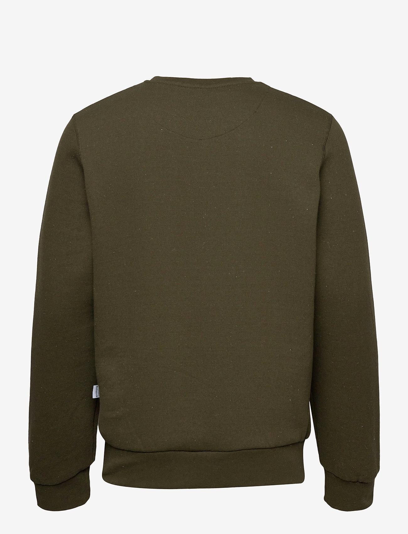 Kronstadt - Lars Recycled cotton sweat - truien - khaki green - 1