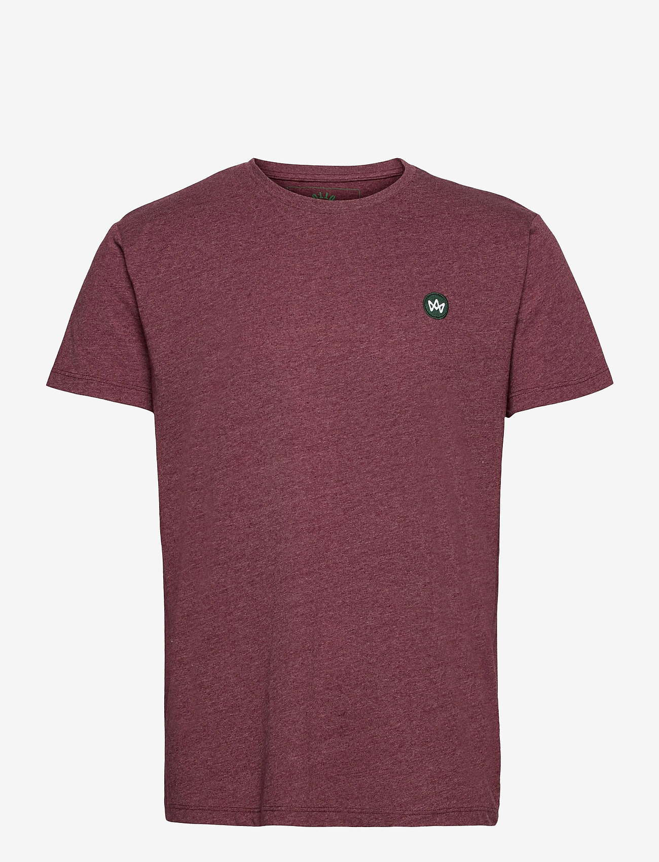 Kronstadt - Timmi Recycled cotton t-shirt - basic t-shirts - cherry - 0
