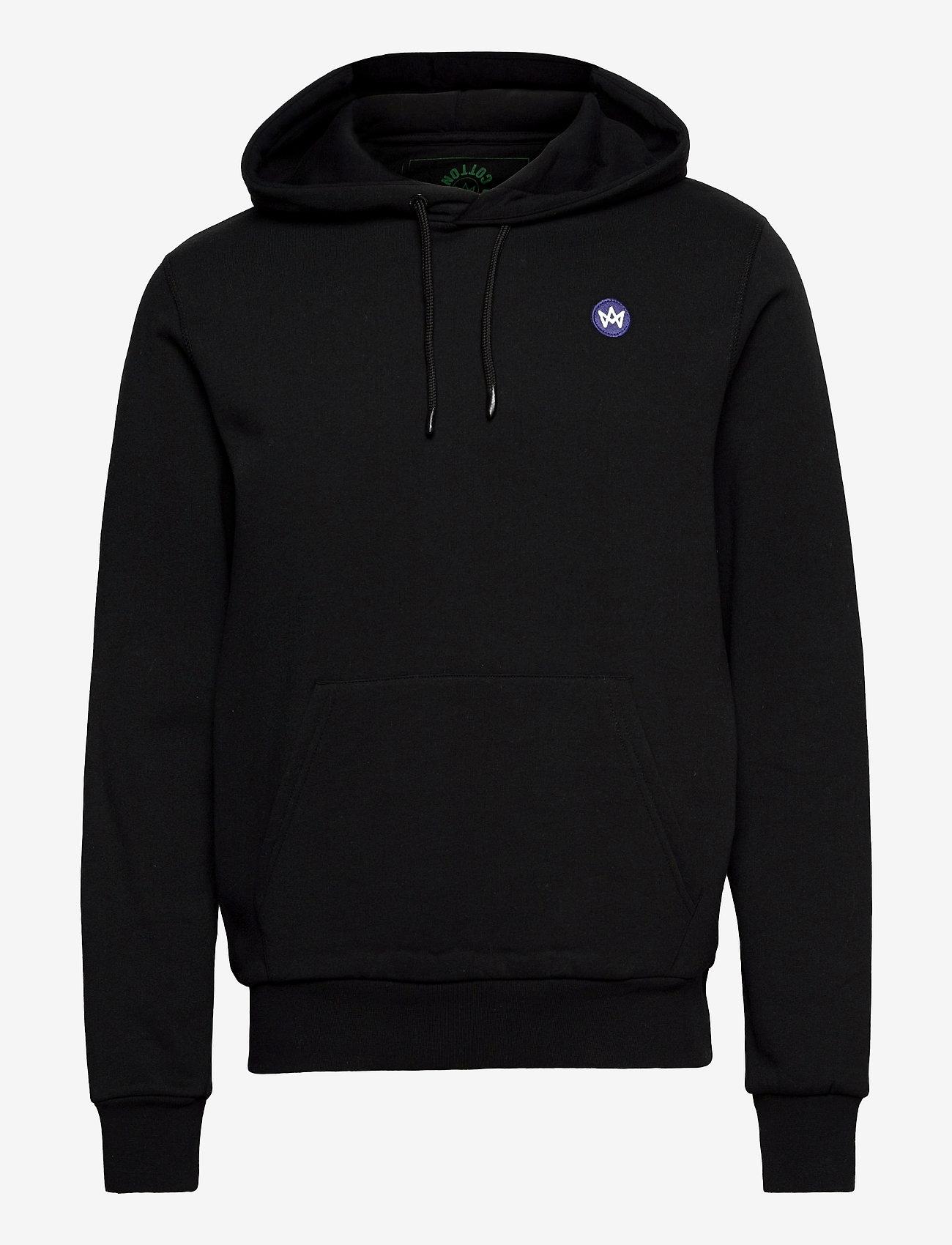 Kronstadt - Lars Recycled cotton hood - sweats à capuche - black - 0